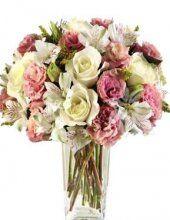 bílorůžová kytice