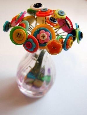 button flower, desk decoration by Jersica