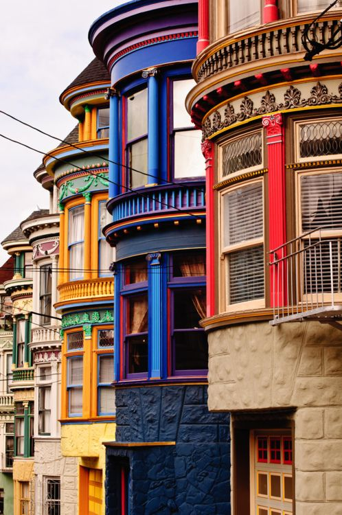 : Bays Windows, Victorian House, San Francisco California, Sanfrancisco, Colors House, Architecture, Places, Painted Ladies, Painting Lady