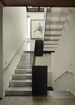Love the mesh stairs - Art House Stair - modern - staircase - seattle - DeForest Architects