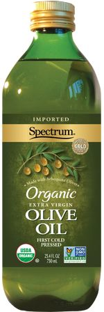 Organic, extra-virgin, cold-pressed olive oil