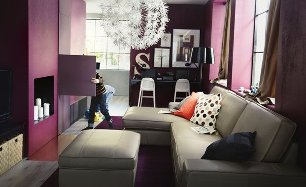 Plum Living Room Colour Scheme