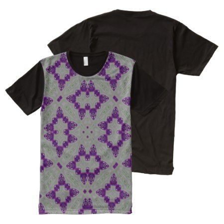Abstract Pattern Purple All-Over-Print Shirt - tap to personalize and get yours