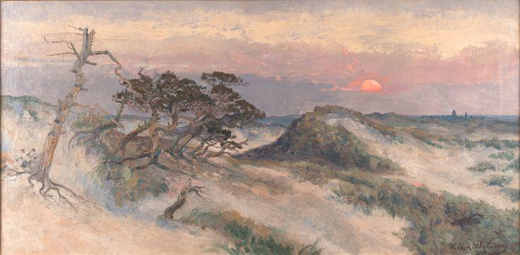 Willem DELSAUX (Belgian, Elsene 1862-1945 Grimbergen) The Wassenaar dunes (1903)