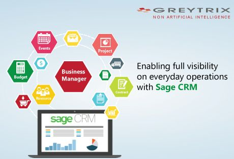 Understanding the core facets of an effective business management, Greytrix introduces a comprehensive solution that addresses a multitude of business requirements with Sage CRM. Greytrix Business Manager - a combination of end user applications includes Sage CRM Project Manager, Sage CRM Contract Manager, Sage CRM Resource Planner, Sage CRM Event Manager and Sage CRM Budget Planner that explicitly administers the building blocks of your business.