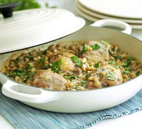 Braised chicken & beans