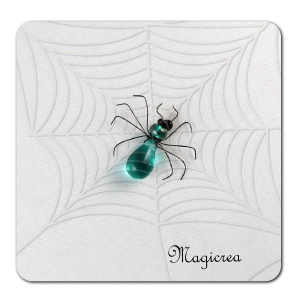 ARAIGNEE PERLES TURQUOISE - Boutique www.magicreation.fr