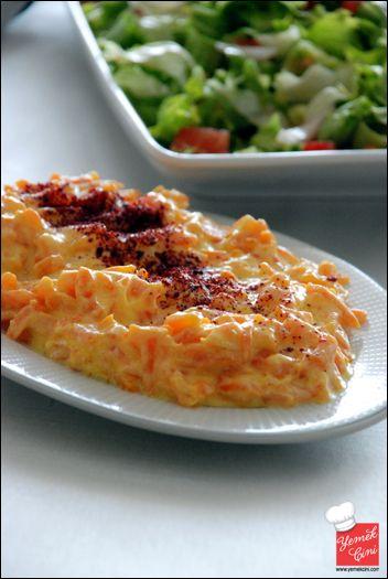 Yoğurtlu Havuç Salatası - carrot salad with yoghurt-tahini dressing