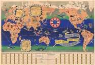 Rare Map for Sale: 1956 J. B. Jannot Chocolates Menier Pictorial Map of the World at Geographicus Rare Antique Maps