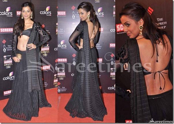 mudgha godse black sari