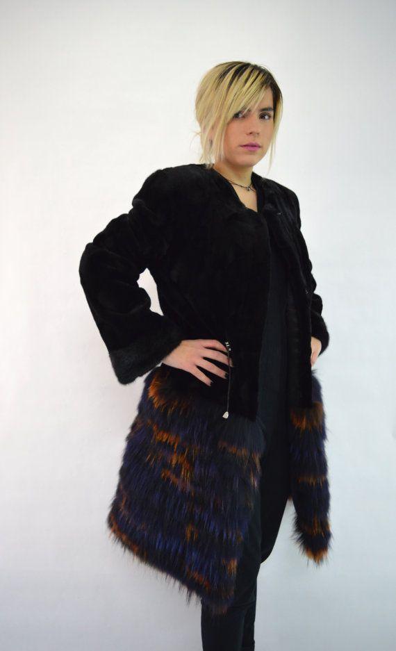 Real fur coat, real mink fur, mink coat, sheared mink fur, black mink fur, fox…