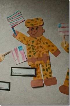 To decorate for Veteran's Day Parade at school next week?