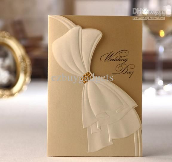 56 best gold and white wedding images on pinterest | marriage, Wedding invitations