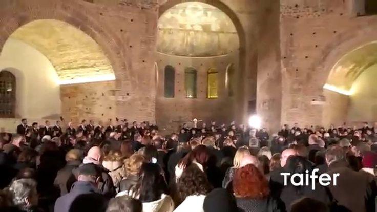 Η στιγμή που ακούστηκε ο Ακάθιστος ύμνος στη Ροτόντα | Byzantine chant i...