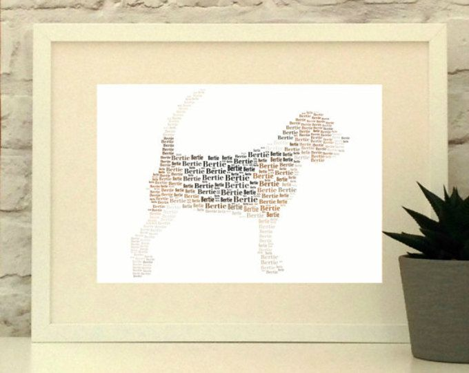 Beagle Personalised Print, Beagle Dog Art, Beagle Poster, Animal Art, Custom Print, Wall Art, Typographic Print, custom pet portrait