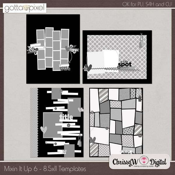 Mixin It Up 6 - 8.5x11 Templates :: Gotta Pixel Digital Scrapbook Store  http://www.gottapixel.net/store/product.php?productid=10002729&cat=0&page=6