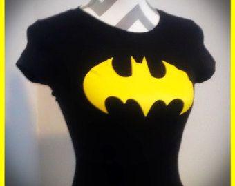 Batman Batgirl inspirado camisas de brillo de color de rosa