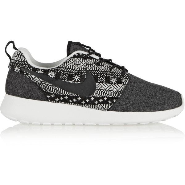 Nike Roshe One Winter wool and wool-felt sneakers ($65) ❤ liked on