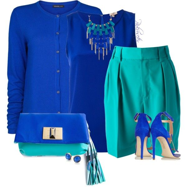 """2 Bright Colors"" by pinkroseten on Polyvore 