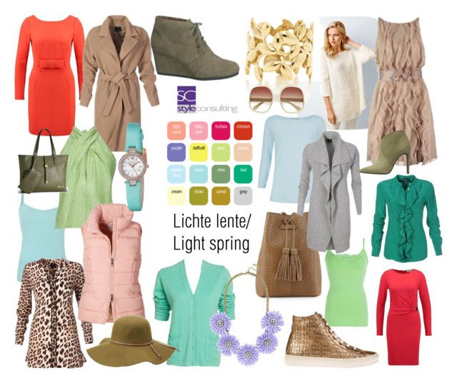 """""""Lichte lente/ Light spring color type."""" by roorda on Polyvore featuring mode, Adrianna Papell, Natasha Zinko, Pierre Cardin, BKE, maurices, Charlotte Russe, Paloma Picasso, Tom Ford en BaubleBar"""