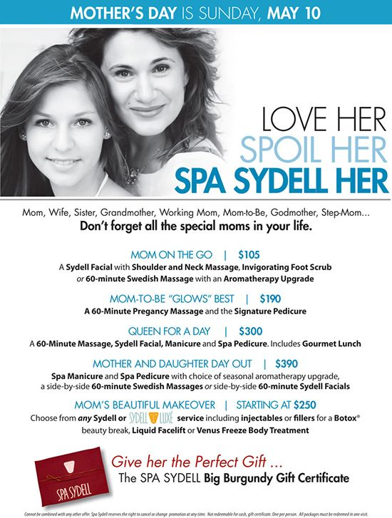 Give Your Mother A Special Mother S Day At Spa Sydell