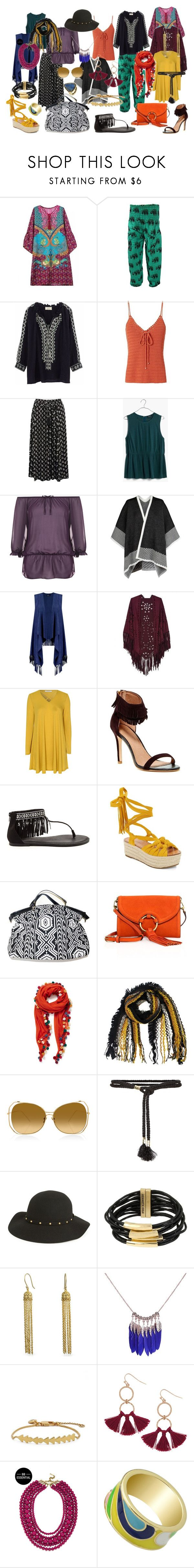"""084. Summer Boho capsule for Pure Spring"" by sollis ❤ liked on Polyvore featuring BA&SH, Exclusive for Intermix, M&Co, Madewell, WearAll, Boohoo, Glamorous, Joie, Sigerson Morrison and Tory Burch"