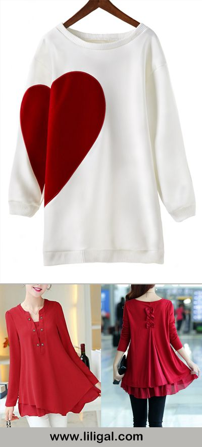 cute tops, sweet blouses, what to wear in valentines day, sweet tops for valentines day, red tops, valentine's day outfit ideas tops, valentine's day outfit ideas red