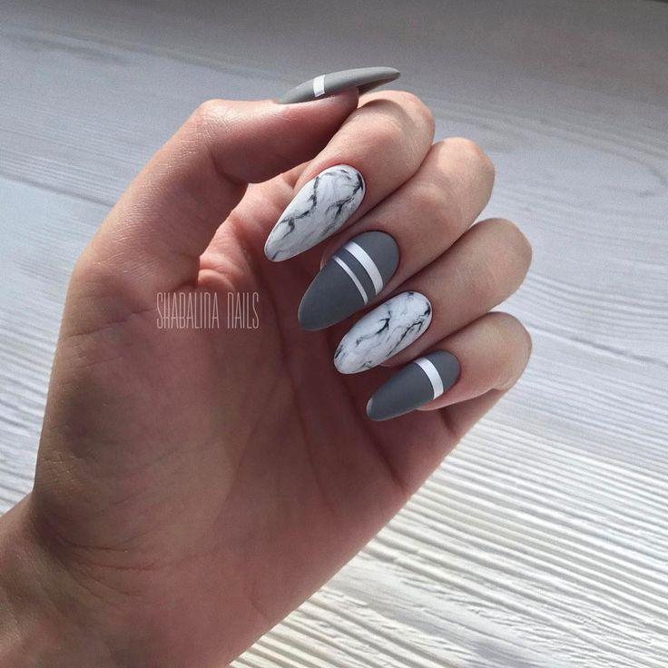 Ногти под мрамор