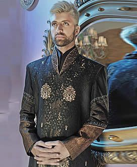 M853 Significant Embellished Wedding Sherwani for Mens Significant Embellished Wedding Sherwani for Mens artesia California CA USA Sherwani Suits