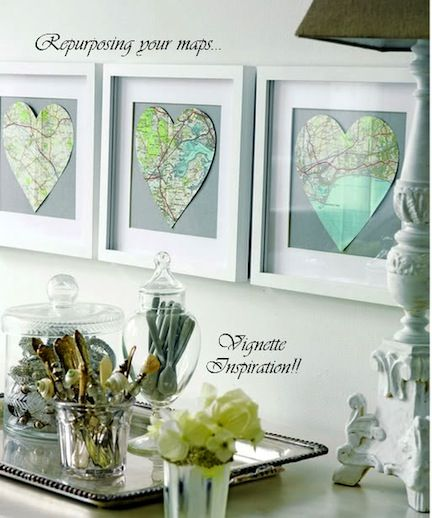 Map you favorite or meaningful places and frame with heart: Frames Maps, Gifts Ideas, Cute Ideas, Honeymoons Places, Vacations Spots, Heart Shape, Old Maps, Heart Maps, Diy Projects