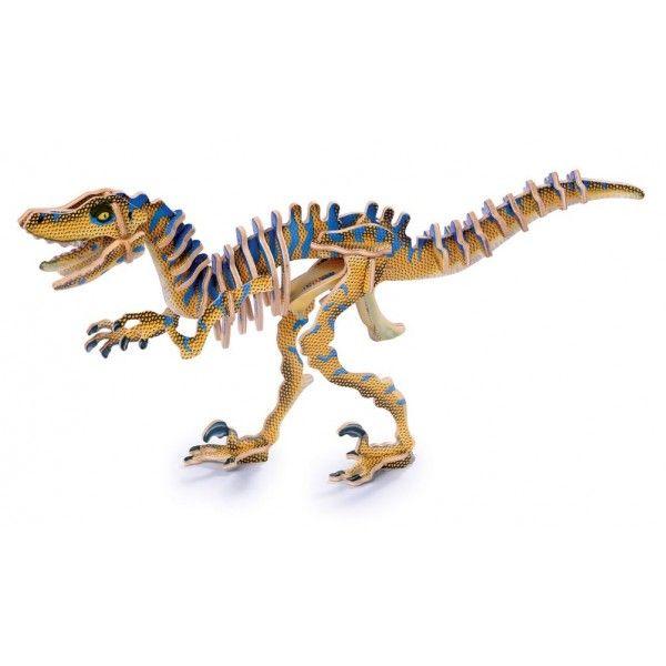 """PUZZLE 3D """"DINOSAURIO VELOCIRAPTOR"""", IndalChess.com Tienda de juguetes online y juegos de jardin"""