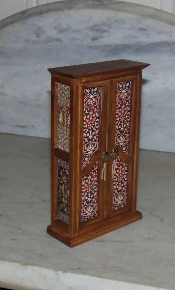 112th Dollhouse Tall Cabinet Decoupaged Mother of