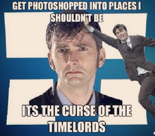 David Tennant in places he shouldn't be: It's the curse of the Time Lords. :D #doctorwho