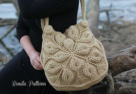 3D Embossed Garden Handbag – Bonita Patterns paid pattern