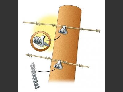 Use A 35 Sash Chain Link And Screw To Secure Wire To