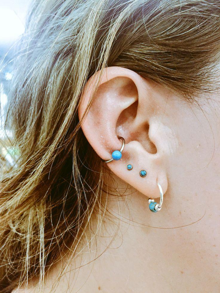 The 25  Best Triple Lobe Piercing Ideas On Pinterest