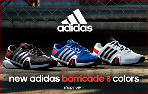 3dfdd5831a6 New adidas Barricade 8 colors!