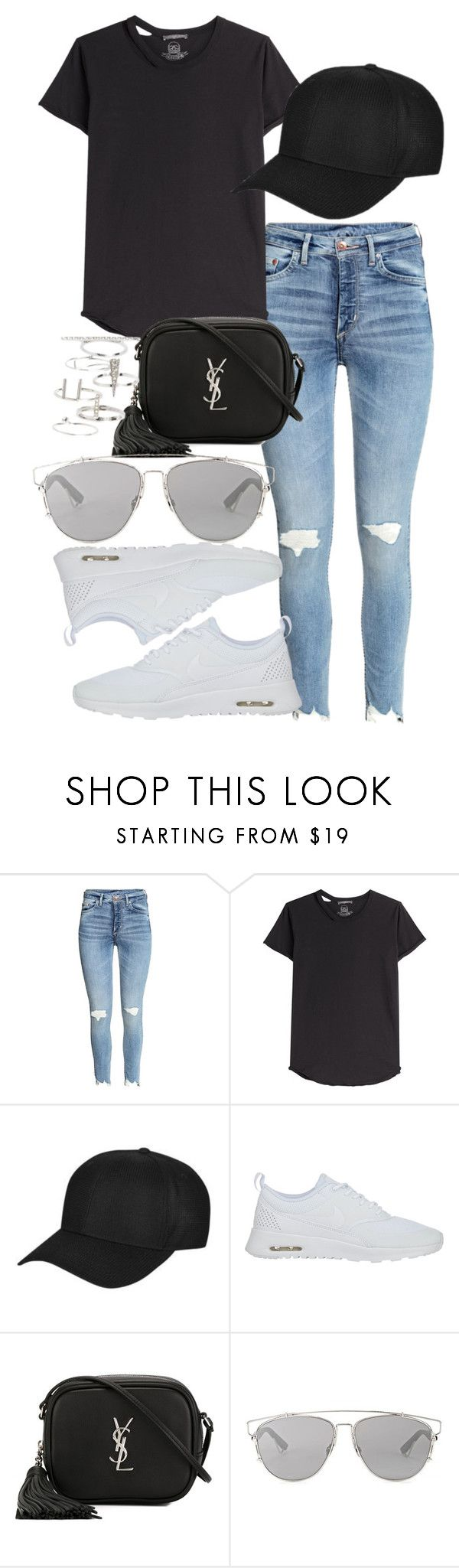 """""""Untitled #124"""" by voiceforfashion ❤ liked on Polyvore featuring Alexander McQueen, Topshop, NIKE, Yves Saint Laurent, Christian Dior and polyvoreeditorial"""