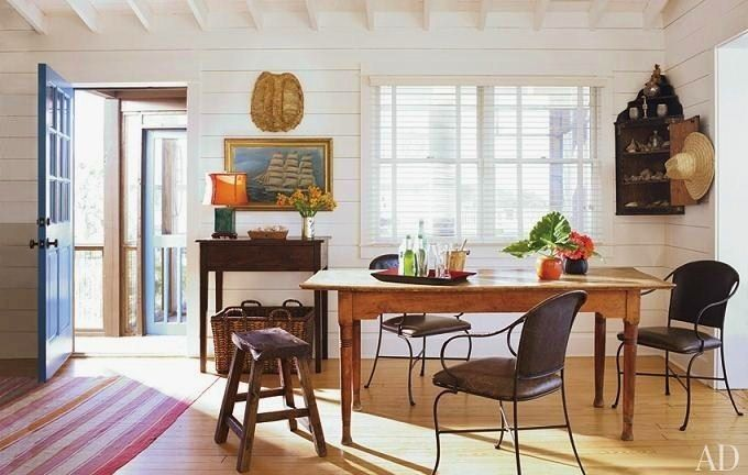 Beach Dining Room | Oceanside Bungalow with Bohemian Flair