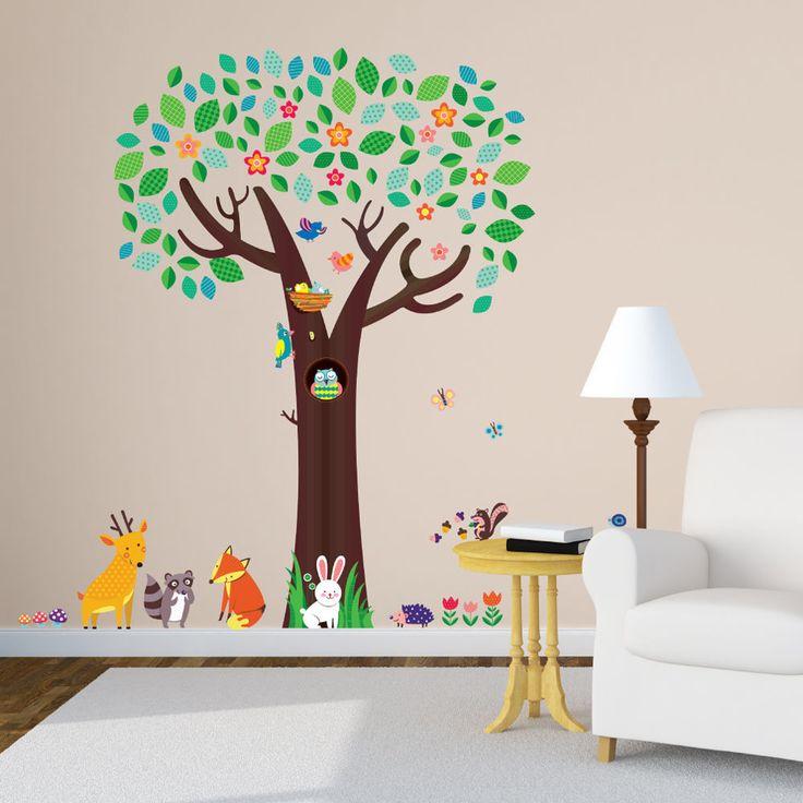 Decowall Big Tree Wall Decals Removable PVC Home Stickers Kids Art  Nursery 1312 #DecowallQuoteWallDecor #ModernandfairytaleEducational
