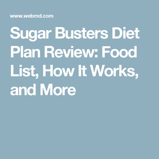 Sugar Busters Diet Plan Review: Food List, How It Works, and More