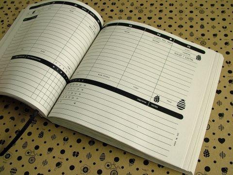 L-es 2015-ös HETI beosztású határidőnapló belső, Képeslap, album, füzet, Jegyzetfüzet, napló, naptár, Meska