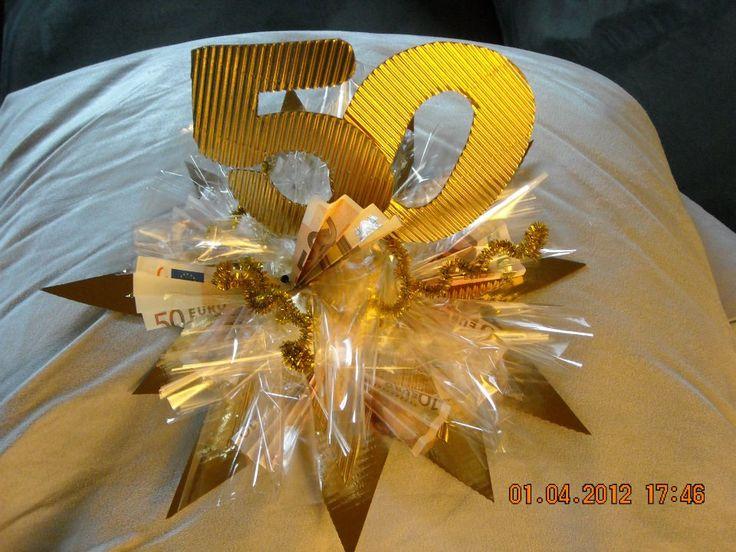 Geldgeschenk Goldene oder Silberne Hochzeit Bastelanleitung zum...