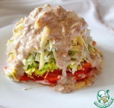Салат с авокадо и грушей под соусом ингредиенты