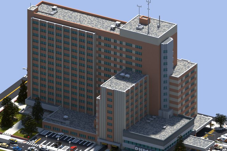 [Minecraft] Downtown Huntington City Hospital by Yazur on DeviantArt