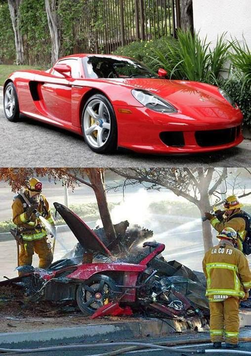 "Paul Walker death car crash wreckage | We … are stunned and saddened beyond belief by this news,"" the ..."