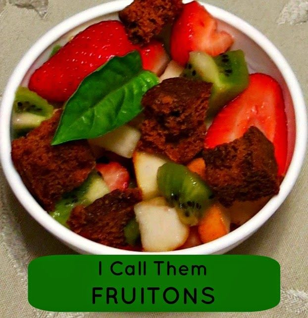 Crunchy, sweet croutons for fruit salad.
