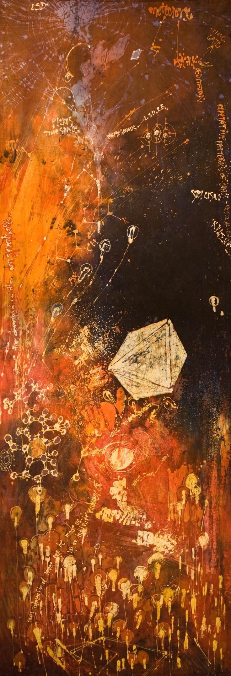 "TANO.  LSD (from the ""5 keys to consiousness"" series) / 2009 / 291cm x 104cm / batik (napthol on primissima fabric)"