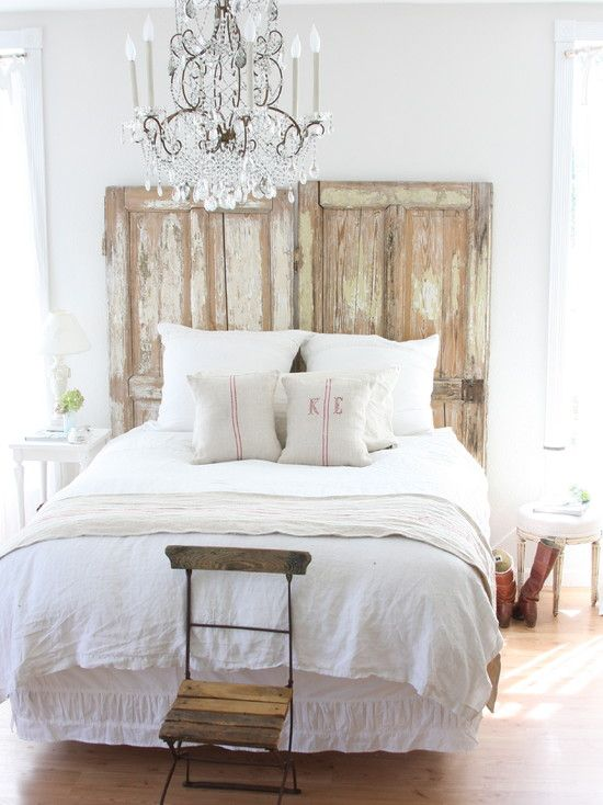 Homemade Headboard - Sticking with the vintage door theme