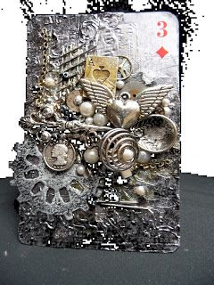 Sandee 1899: May STEAMPUNK CHALLENGE altered playing card